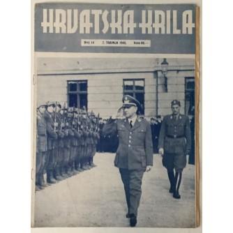 NAŠA KRILA ČASOPIS BROJ 14 GODINA 1945. TJEDNIK ZAPOVJEDNIČTVA ZRAKOPLOVSTVA