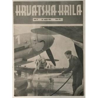 NAŠA KRILA ČASOPIS BROJ 8 GODINA 1945. TJEDNIK ZAPOVJEDNIČTVA ZRAKOPLOVSTVA