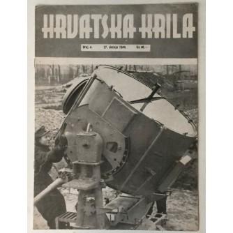 NAŠA KRILA ČASOPIS BROJ 4 GODINA 1945. TJEDNIK ZAPOVJEDNIČTVA ZRAKOPLOVSTVA