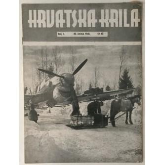 NAŠA KRILA ČASOPIS BROJ 3 GODINA 1945. TJEDNIK ZAPOVJEDNIČTVA ZRAKOPLOVSTVA