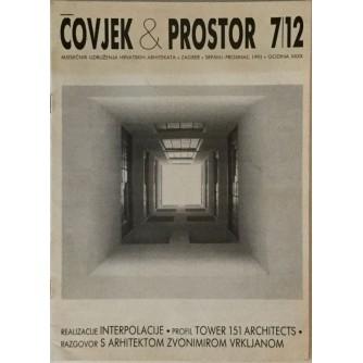 ČOVJEK I PROSTOR , ARHITEKTURA , ČASOPIS BROJ 7/12 , GODINA 1993.