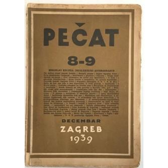 MIROSLAV KRLEŽA : PEČAT , DIJALEKTIČKI ANTIBARBARUS , KNJIŽEVNI ČASOPIS , , BROJ 8-9 , GODINA 1939.