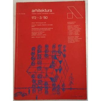 ARHITEKTURA ČASOPIS BROJ 172/3  GODINA 1980.