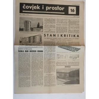 ČOVJEK I PROSTOR , ARHITEKTURA ČASOPIS BROJ 16 GODINA 1954.