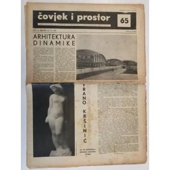 ČOVJEK I PROSTOR , ARHITEKTURA ČASOPIS BROJ 65 GODINA 1957.