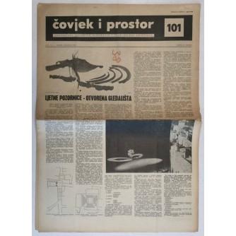 ČOVJEK I PROSTOR , ARHITEKTURA ČASOPIS BROJ 101 GODINA 1960.