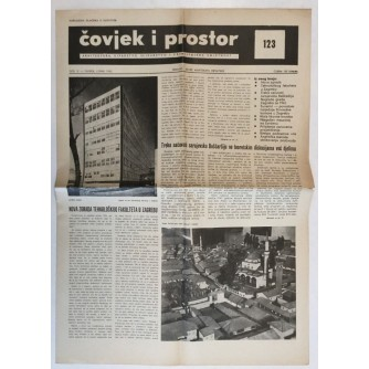 ČOVJEK I PROSTOR , ARHITEKTURA ČASOPIS BROJ 123 GODINA 1963.
