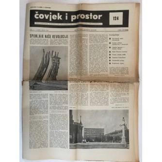 ČOVJEK I PROSTOR , ARHITEKTURA ČASOPIS BROJ 124 GODINA 1963.
