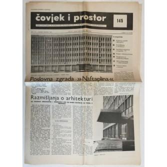 ČOVJEK I PROSTOR , ARHITEKTURA ČASOPIS BROJ 145 GODINA 1965.