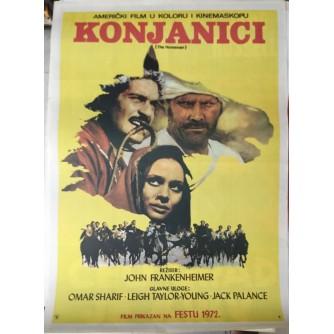 JOHN FRANLENHEIMER : KPONJANICI , FILMSKI PLAKAT , OMAR SHARIF , JACK PALANCE