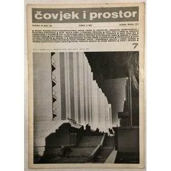 ČOVJEK I PROSTOR , ČASOPIS SAVEZA ARHITEKATA HRVATKE BROJ 7 IZ 1973.