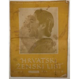HRVATSKI ŽENSKI LIST , ČASOPIS BROJ 8 IZ 1944. GODINE