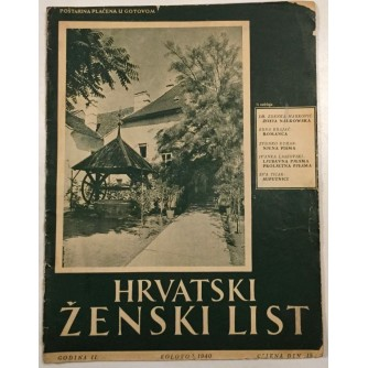 HRVATSKI ŽENSKI LIST , ČASOPIS BROJ 8 IZ 1940. GODINE