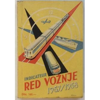 RED VOŽNJE : PUTNIK-ZAGREB 1957/1958