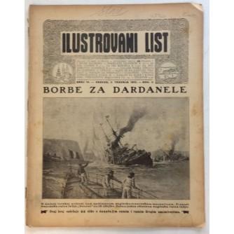 ILUSTROVANI LIST,ČASOPIS : BROJ 14,1915.-GOD.II.