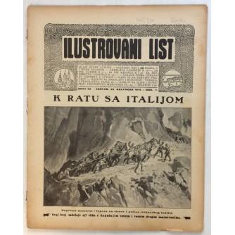 ILUSTROVANI LIST,ČASOPIS : BROJ 35,1915.-GOD.II.