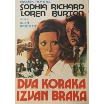ALAN BRIDGES : DVA KORAKA IZVAN BRAKA , SOPHIA LOREN , RICHARD BURTON