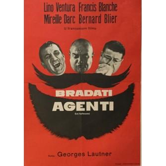 GEORGES LAUTNER : BRADATI AGENTI , FILMSKI PLAKAT , LINO VENTURA