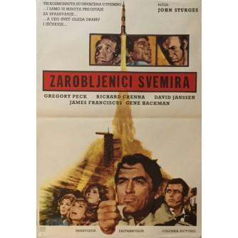 JOHN STURGES : ZAROBLJENICI SVEMIRA , FILMSKI PLAKAT , GREGORY PECK , GENE HACKMAN