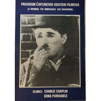CHARLIE CHAPLIN :PROGRAM CHAPLINOVIH KRATKIH FILMOVA , FILMSKI PLAKAT