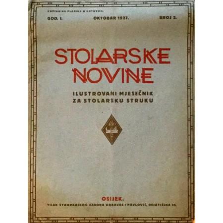STOLARSKE NOVINE : ILUSTROVANI MJESEČNIK ZA STOLARSKU STRUKU 1927. BROJ. 2