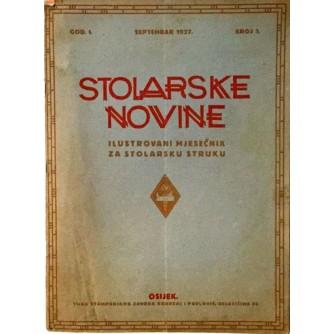 STOLARSKE NOVINE : ILUSTROVANI MJESEČNIK ZA STOLARSKU STRUKU 1927. BROJ. 1