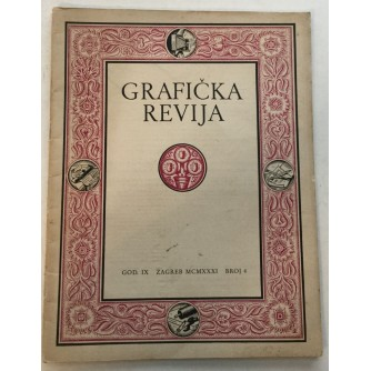 GRAFIČKA REVIJA 1931. BROJ 4