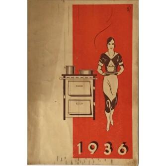 DOMAĆINSKI KALENDAR GRADSKE PLINARE ZA 1936. DIZAJN ATELLIER TRI