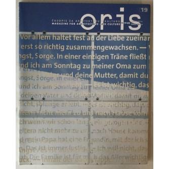 Oris, časopis za arhitekturu i kulturu broj 19 godina 2003.