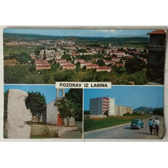 Labin: stara razglednica Pozdrav iz Labina tri motiva