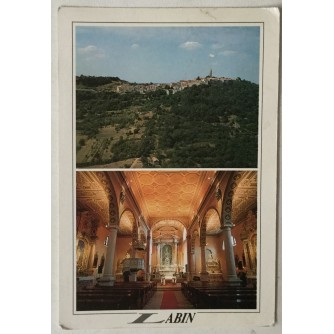 Labin: stara razglednica Crkva rođenja Marijina