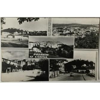 Labin: stara razglednica Pozdrav iz Labina pet motiva