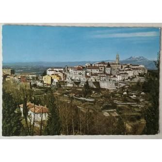 Labin: stara razglednica pogled na Stari grad i okolicu