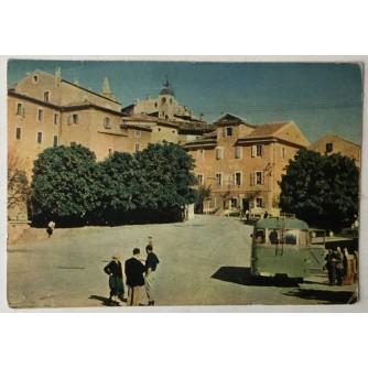Labin: stara razglednica cesta u Starom gradu