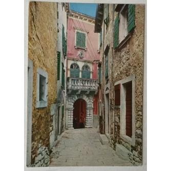 Labin: stara razglednica kuća Matije Vlačića