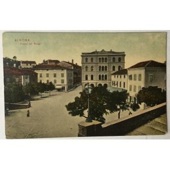 Labin: stara razglednica Albona Piazza del Borgo