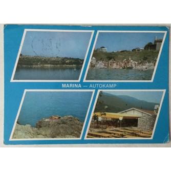 Labin: stara razglednica marina - autokamp