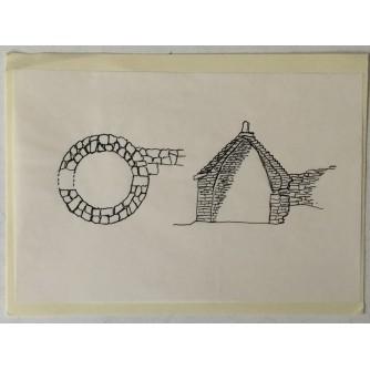 Kanfanar: skica Kažun s pokrovom