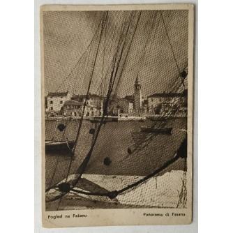 Fažana: stara razglednica Pogled na Fažanu