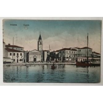 Fažana: stara razglednica Fasana Il porto