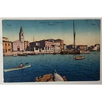 Fažana: stara razglednica Saluto da / Gruss aus Fasana
