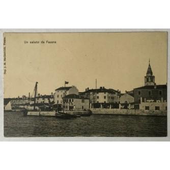 Fažana: stara razglednica Un saluto da Fasana