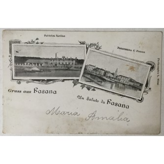 Fažana: stara razglednica Gruss aus Fasana / Un Saluto da Fasana