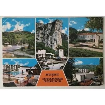 Buzet / Istarske toplice: stara razglednica pet motiva