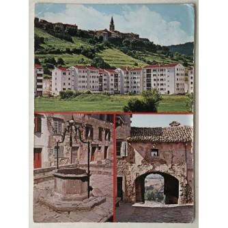 Buzet: stara razglednica tri motiva
