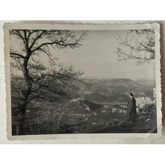 Buzet: stara fotografija pogled na Buzet i dolinu Mirne u daljini