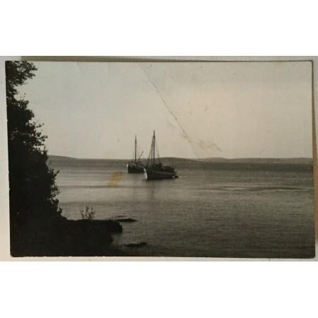 Medulin: stara razglednica brodovi