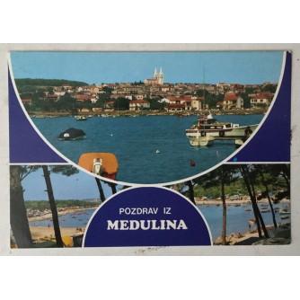 Medulin: stara razglednica dva polukruga Pozdrav iz Medulina