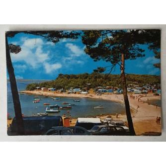 Medulin: stara razglednica Autokamp plaža
