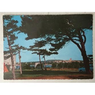 Medulin: stara razglednica panorama i borovi